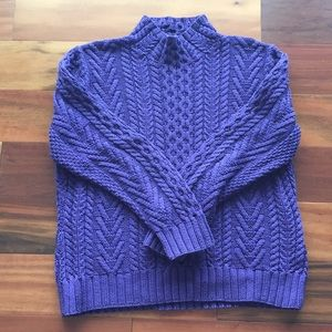 Lands End thick cotton cable sweater